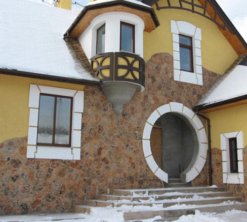 Ракушечник для отделки фасада дома