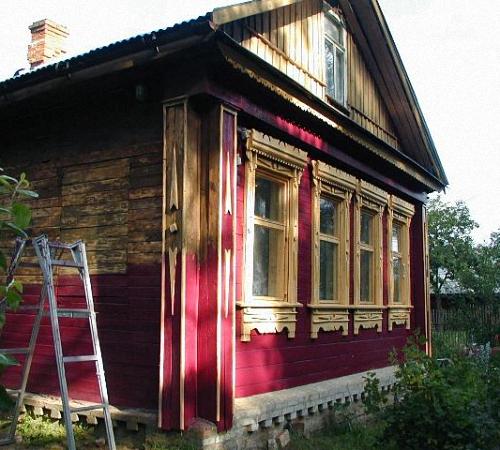 фото покраска домов