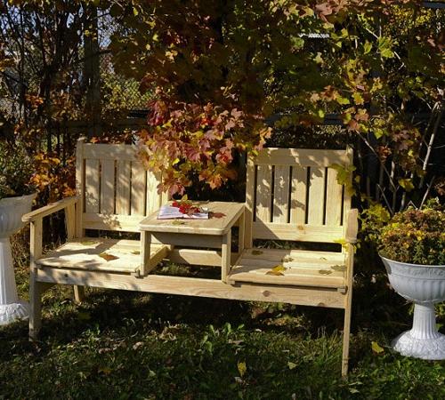 Скамейки из дерева для сада