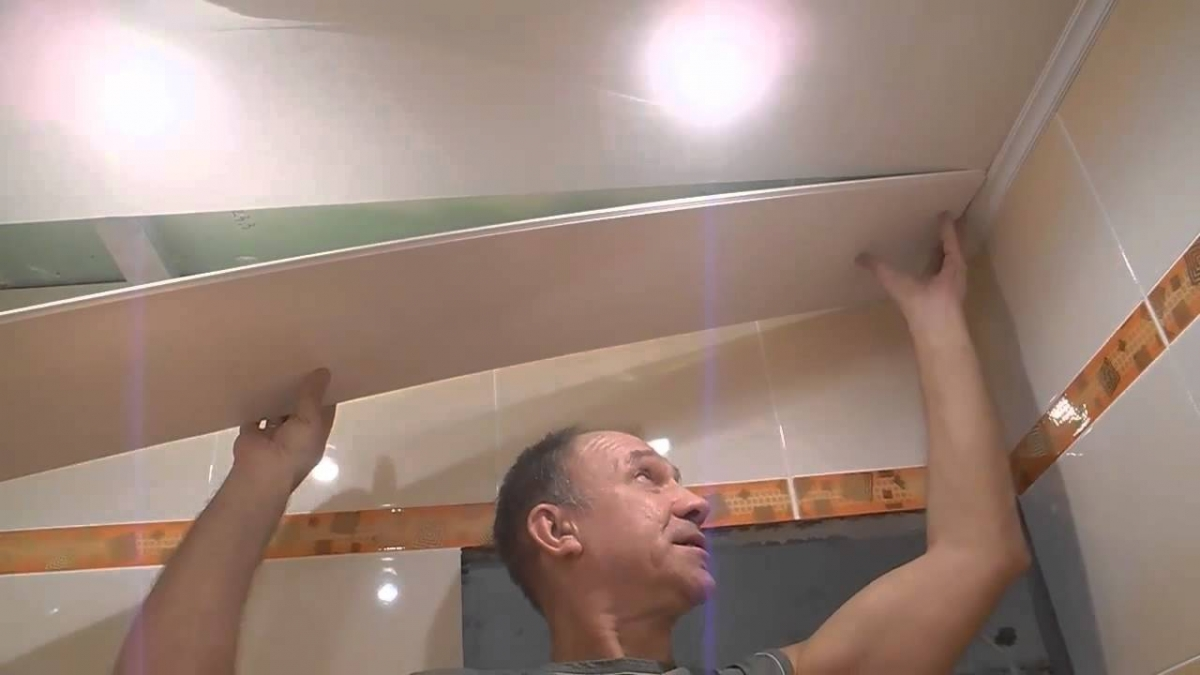 Сайдинг своими руками на потолок в туалет