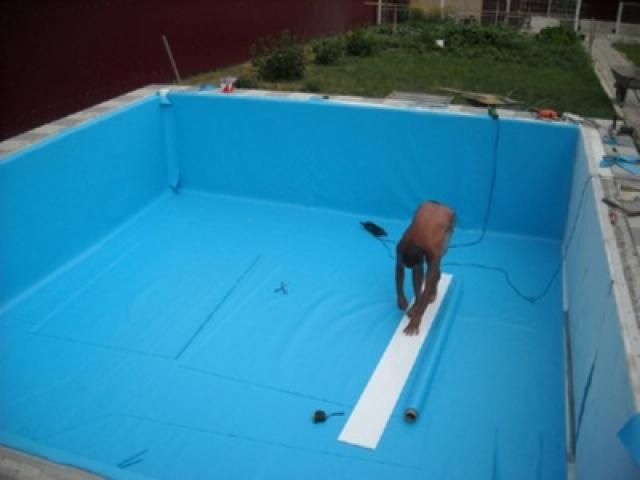 Гидроизоляция бассейна плёнкой пвх видео полимерцементная гидроизоляция балкона cr 65