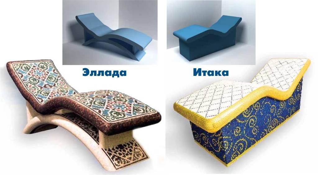 Как сделать лежак для хамама своими руками