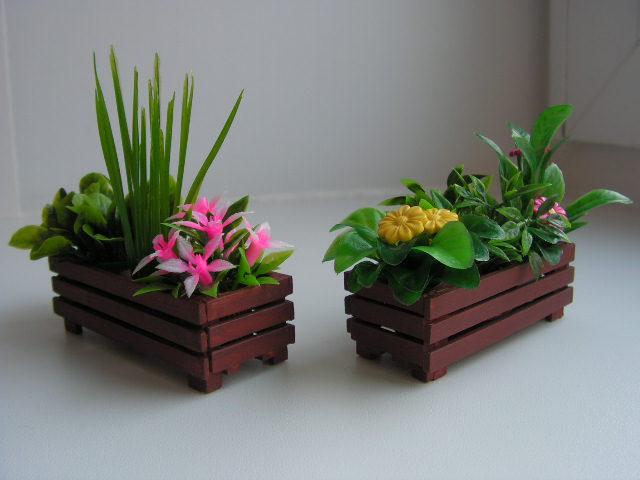 Деревянные горшки для цветов