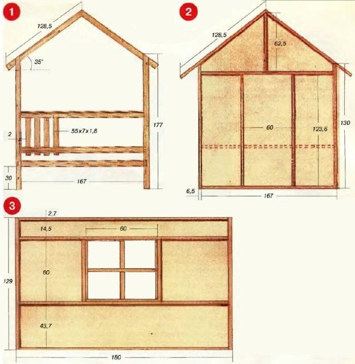 Как сделать для ребенка деревянный домик 28