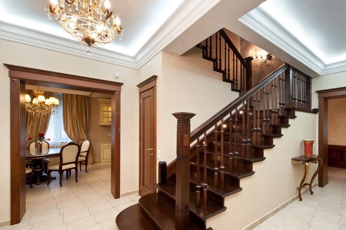 Цвет пола и лестницы