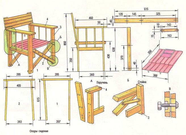 Сделанная мебель своими руками из дерева чертежи