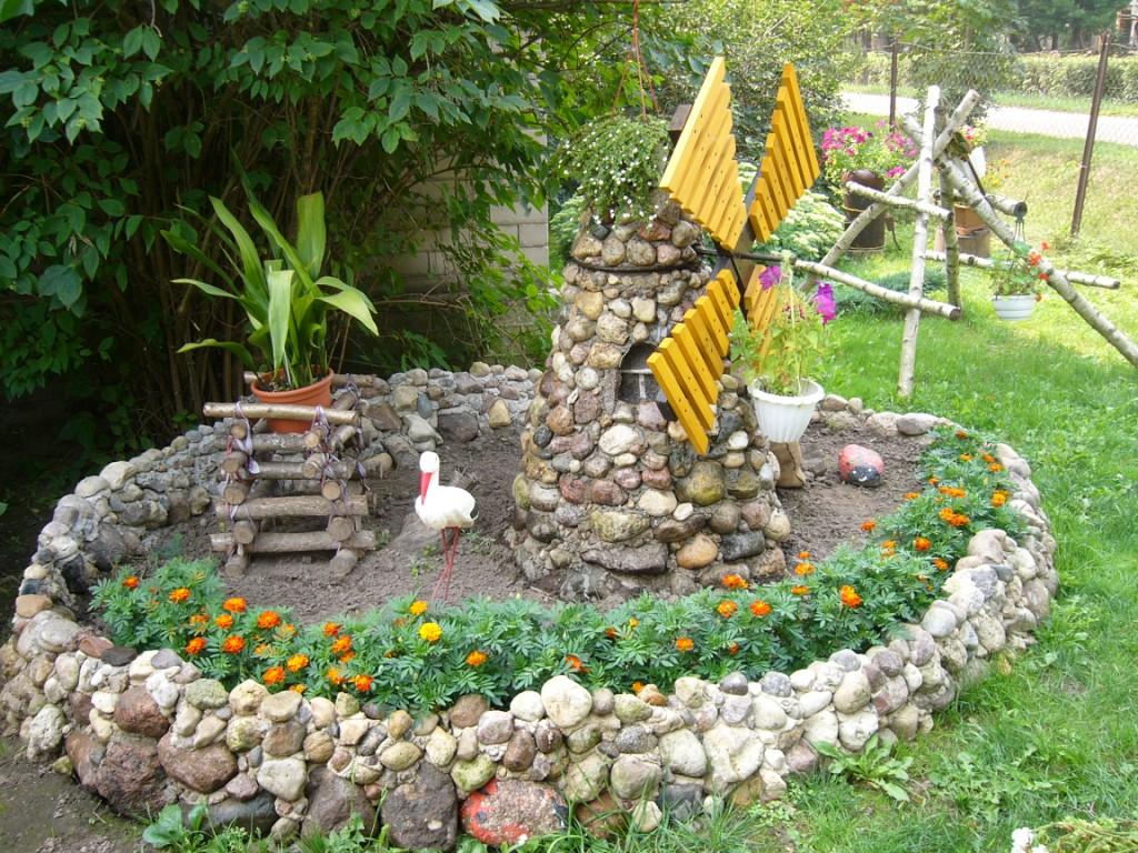 Декоративные поделки сада своими руками
