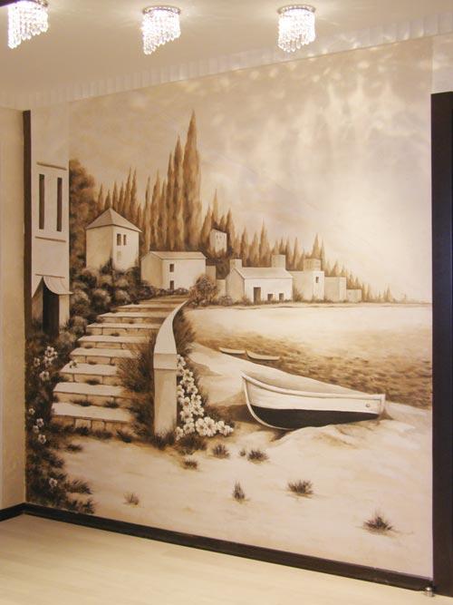 Нарисовать картины на стенах дизайн
