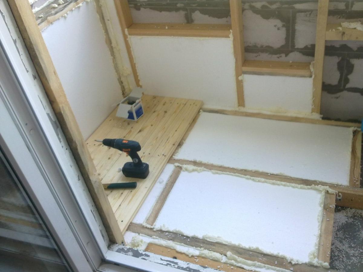 Сделать своими руками полы балкона фото 854