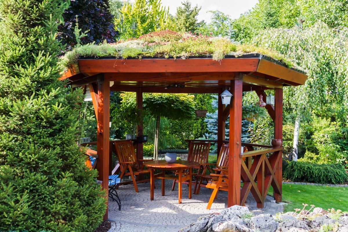 Садовые беседки с мангалом барбекю и печкой: летние кухни 69
