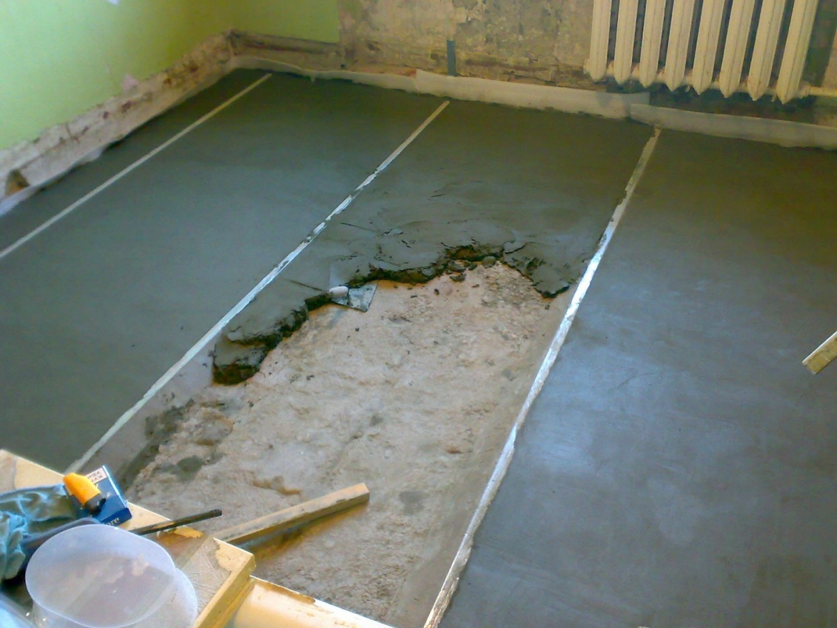 How to make floor screed with your own hands