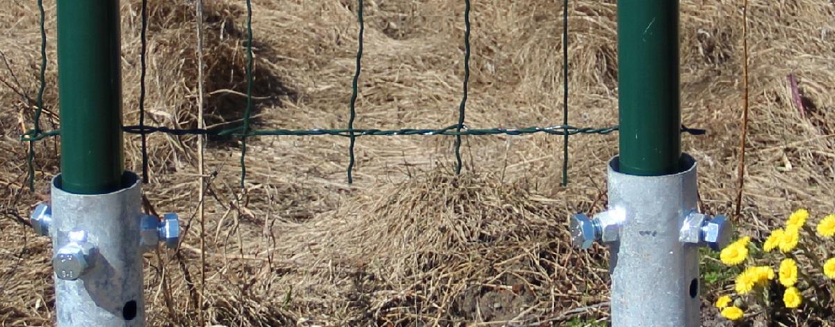 забор на винтовых сваях своими руками видео
