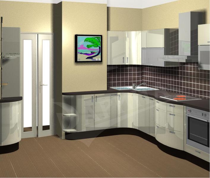 Дизайн кухни 10 кв м с коробом