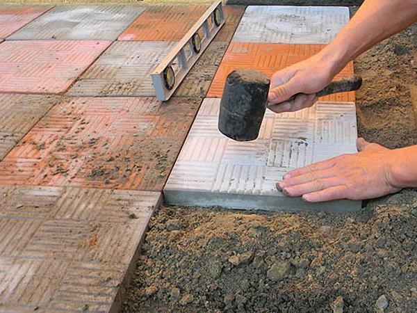 Как укладывать тротуарную плитку своими руками Строительный портал