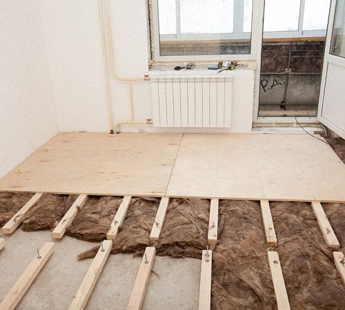 Поменять деревянный пол на