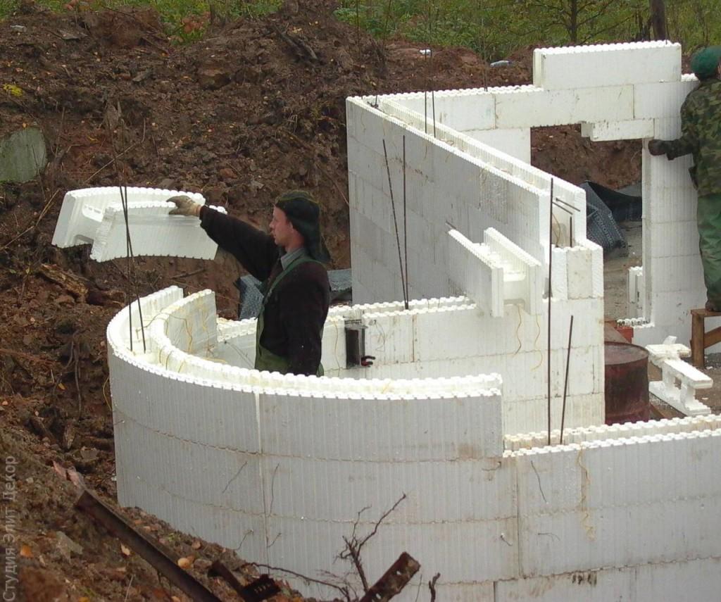 Дом из пенопласта и бетона своими руками 745