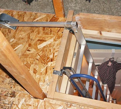 Как сделать чердачную лестницу 937
