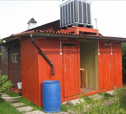 Бак для душа на даче - Построим дом и дачу сами 68