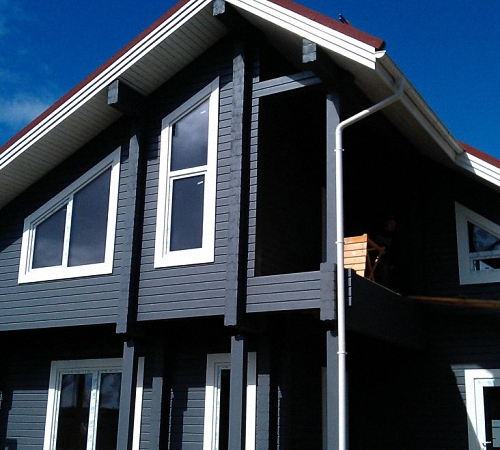 Покраска деревянного фасада цена