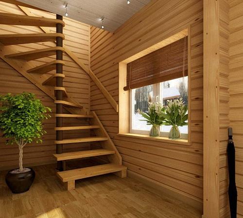 Лестница дачи своими руками дерева фото 810