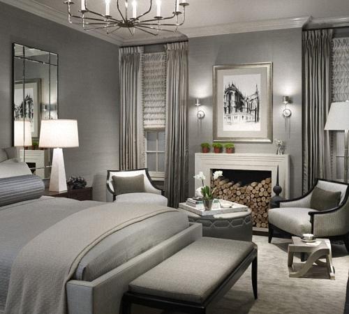 Спальни в серых тонах дизайн