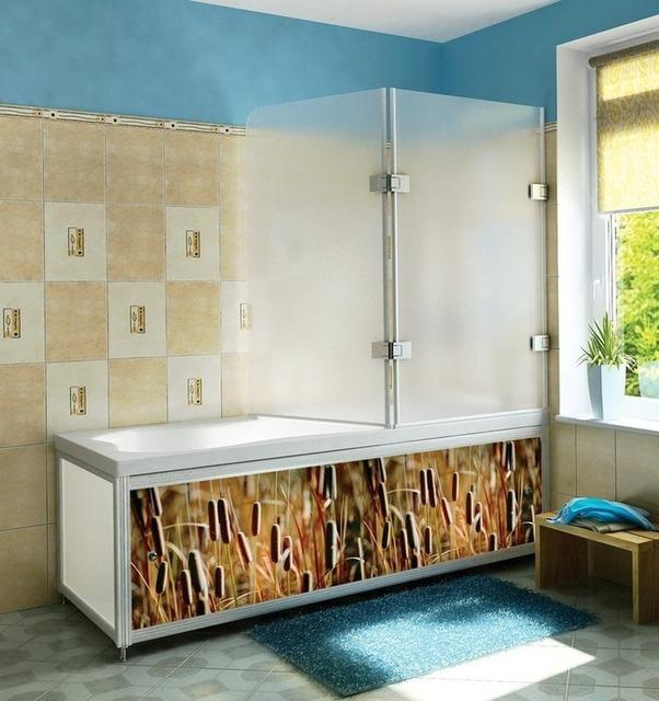 Стеклянная шторка для ванной своими руками 829