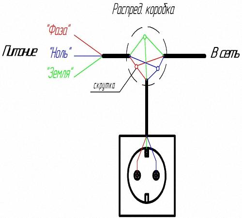 Схема подключения выключателя тройного фото 949