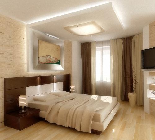 Дизайн потолков: Потолок в спальне: дизайн, фото