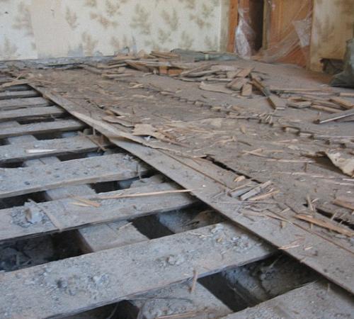 Замена деревянных полов своими руками