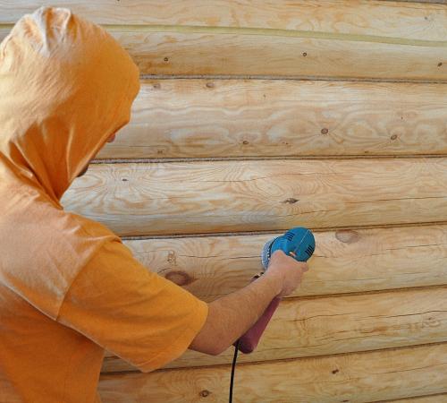 Покраска сруба своими руками технологии материалы и советы видео