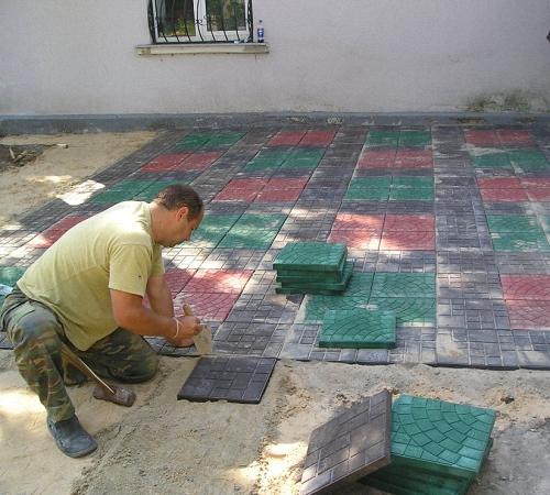 Полимерпесчаная тротуарная плитка особенности монтажа, Строительный портал