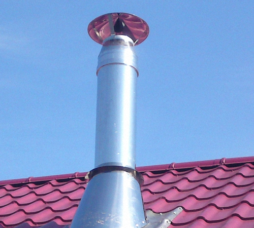 Монтаж дымоходов из нержавеющей стали