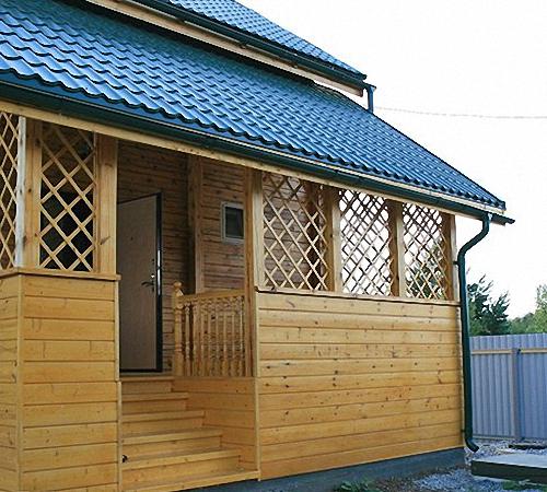 Пристроить веранду к деревянному дому своими руками 111