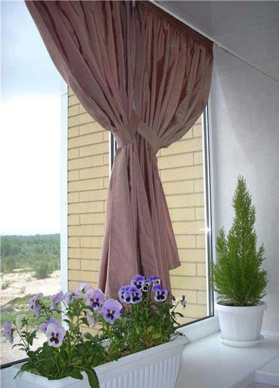 Как сделать шторы для балкона