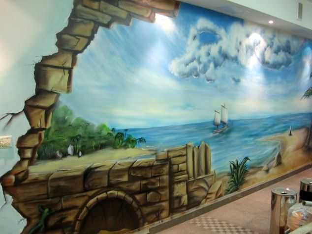for 3d mural painting tutorial
