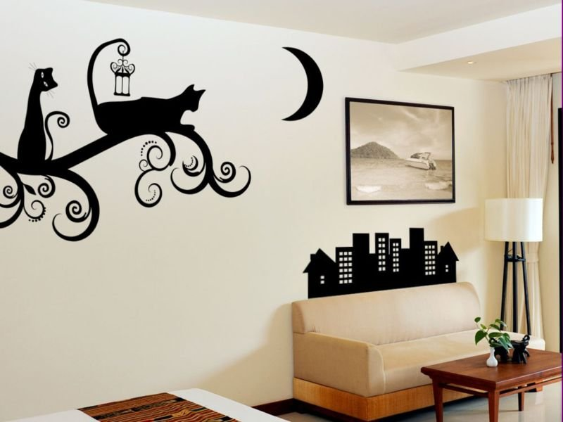 образцы рисунков на стене дома