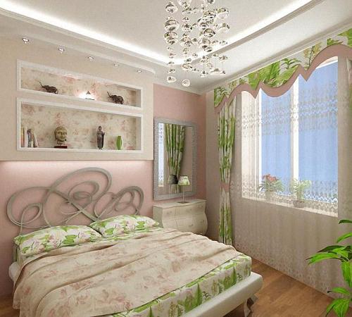 La camera da letto verde