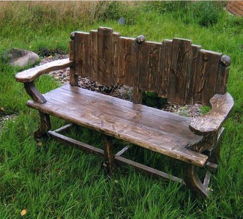 Красивые скамейки для дачи своими руками