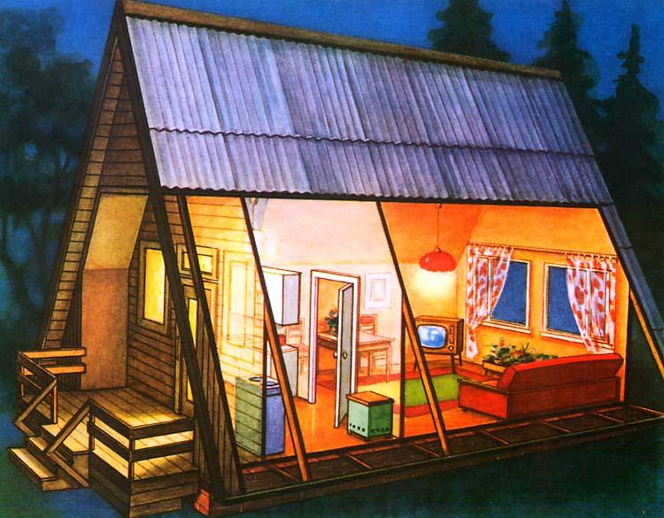 Дачный домик своими руками проект