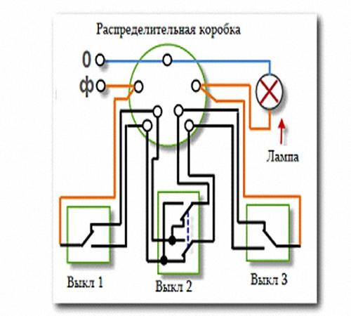 Схема подключения альтернативный выключатель