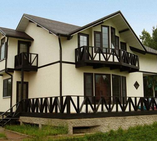 фото покраски домов