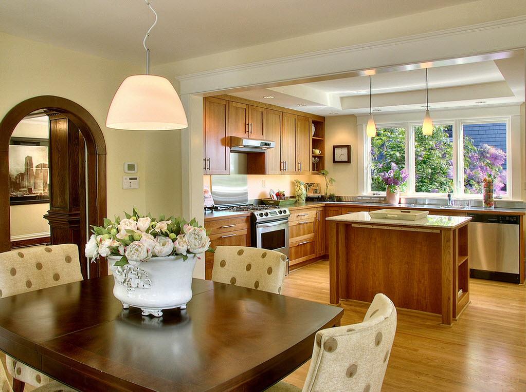 Фото цветы в интерьере кухни фото