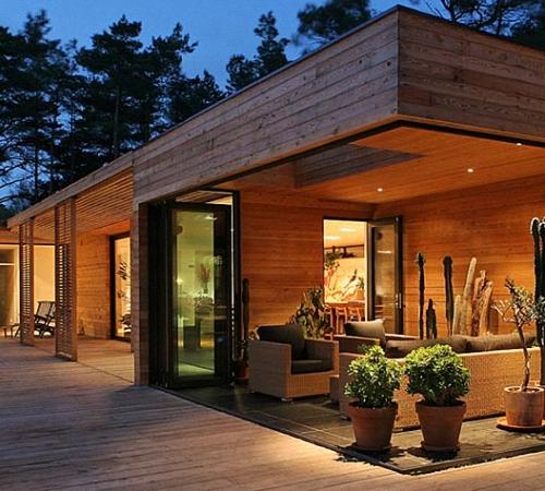Дизайн домов с планкеном