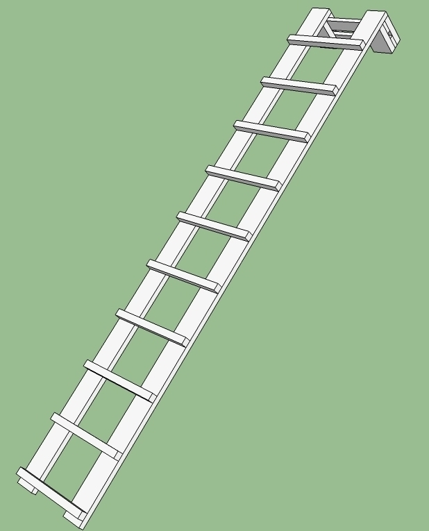 Лестницы своими руками на крышу 28