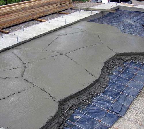 Пол по грунту бетонный своими руками