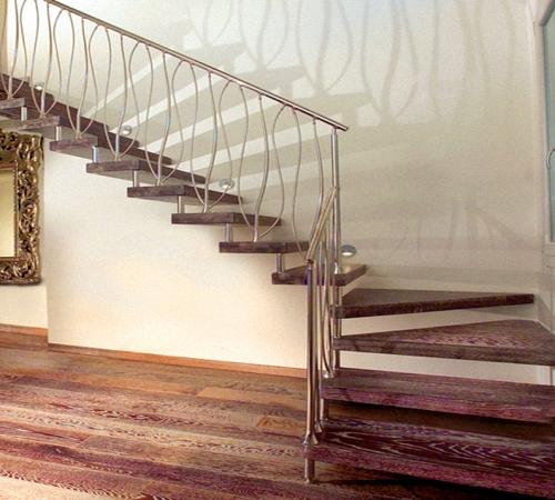 Сварка каркаса лестницы 3