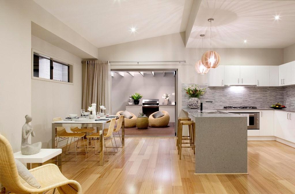 Как сделать из одного помещения кухню и гостиную