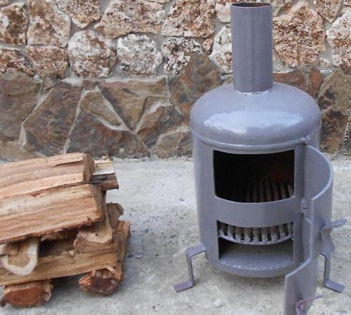Печь на отработке из металла чертежи как уменьшить 175