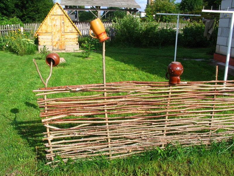Заборчик декоративный для дачи