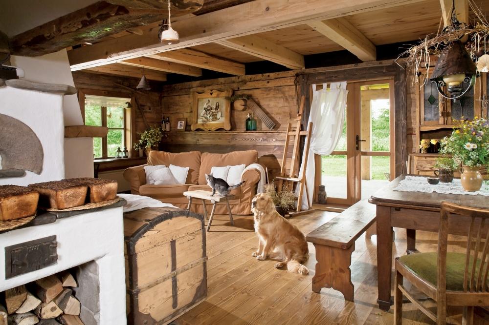 Оформление деревенского дома внутри фото